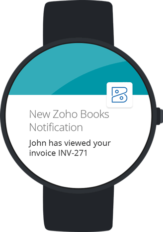 Zoho Books for SmartWatch