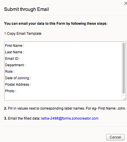 how to change an email address in zoho