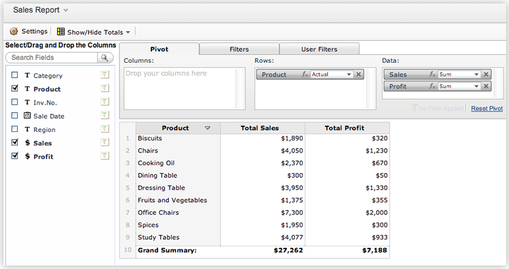 Pivot Table And Pivot Charts