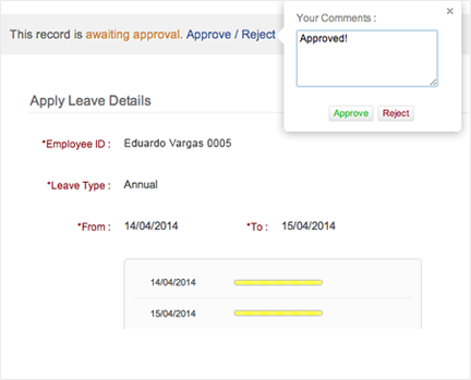 Employee Leave Management System Zoho People – Leave Application Form for Employee